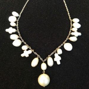 Jewelry - Freshwater & Cultured Pearl Cross Necklace